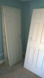 hear i have 2 averrage size inside doors with handles and hinges allready on 20 for both