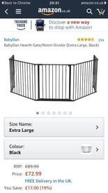 Lindam Babydan Extra large fire guard/room divider- black