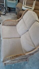 Cream basket sofa