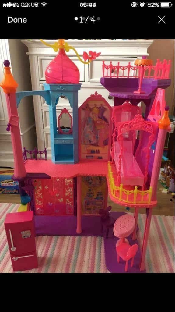 Barbie castle with accessories