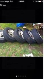 Land Rover wheels and tyres bf Goodrich