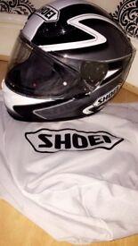 ALMOST NEW SHOEI MOTORBIKE HELMET