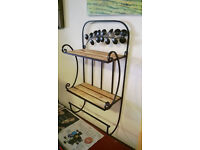 Vintage bathroom shelf with towel rail