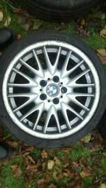 BMW MV1 FRONT GENUINE ALLOY WHEEL 8J WITH LEGAL TYRE225/40/ZR18