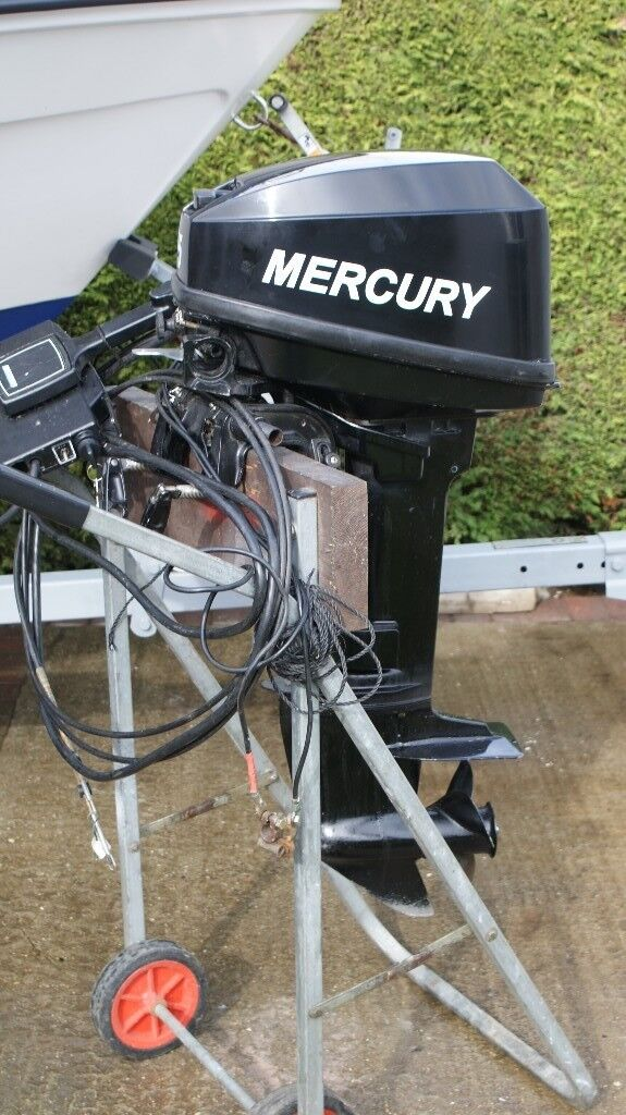 1999 Mercury 15 HP 2 Stroke Outboard Engine Short Shaft With Remotes