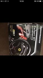 Pc/ PS3 steering wheel and foot pedals. As new