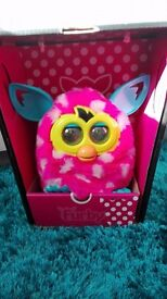 Furby Boom pink and white dots