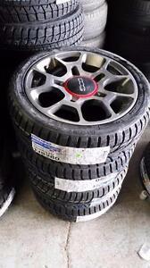 Brand New 195 45 16 Toyo winters on OEM Fiat 500 alloy rims 4 x 98