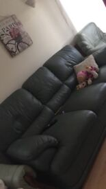 Big leather sofa very clean
