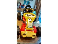 A Maplins 12 volt electric ride on Go-Kart 'as new'