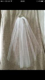 Single Layer diamanté wedding veil