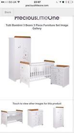White nursery furniture - Tutti Bambini Bears
