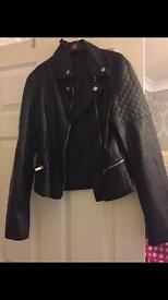 Girls size 12-13 new look biker jacket