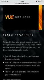 £200 credit Vue gift card, family time on Easter Holidays