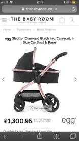 Brand new babystyle egg travel system