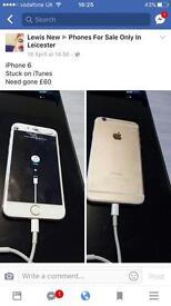 iPhone 6 STUCK ON ITUNES