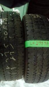 Two Firestone LT 275 70 18 winter tires