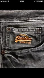 """Genuine Superdry Slim Fit Jeans 32""""W 34""""L"""