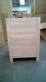 Solid Pine Kitchen Base Unit with 3 drawers *can be used as part of our modular kitchen set