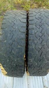 Two Good Year LT 215 85 16 winter tires.