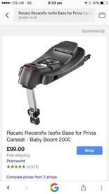 Recaro Privia base and seat