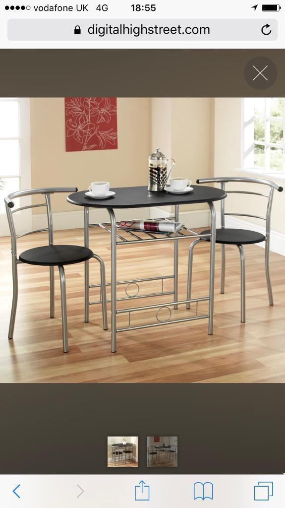 2 person glass dining table and chairs