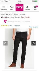 LEVI 510 black 36/32 like new £25