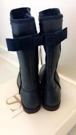 BNWT NAVY BLUE LEATHER MAYORAL BOOTS SIZE 3 PAID £55