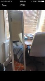 White Standing Mirror - NEED IT GONE TODAY!