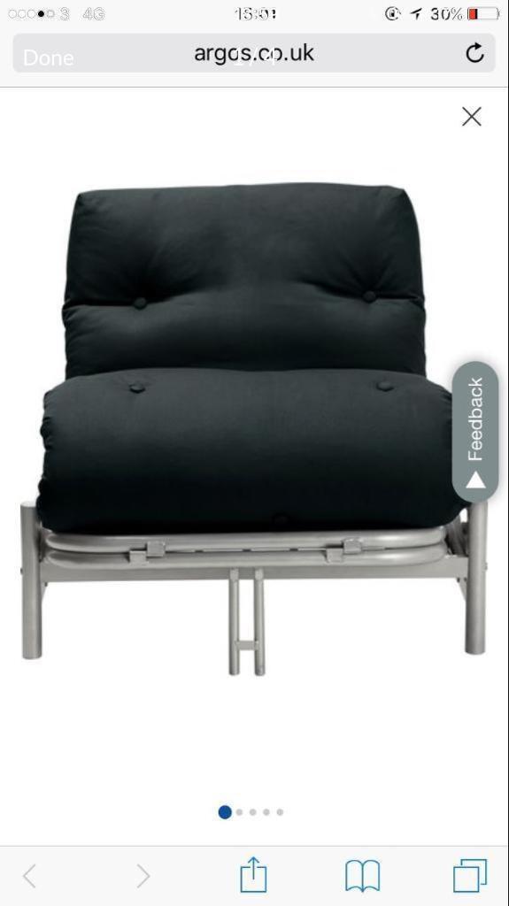 Argos Single Futon Sofa Bed Navy