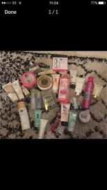 Beauty products, Clinique, soap and glory etc