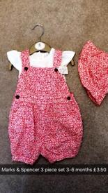 Baby girl clothes boutique designer items 0-3 3-6 6-9 months 9-12