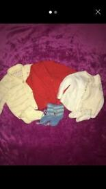 Baby's Knitted Cardigans & Booties