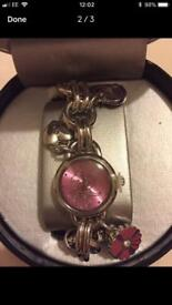BNIB Tinkerbell charm watch