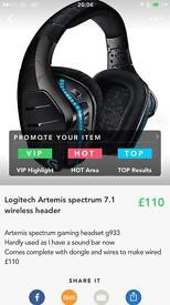 Logitech Artemis spectrum 7.1 gaming headset