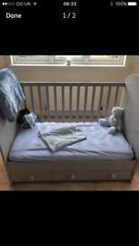 Grey Ikea cot