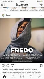 Fredo tickets Birmingham