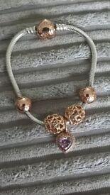 Genuine Pandora bracelet+charms