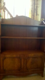 Quality English Wooden bookcase/cabinet good condition