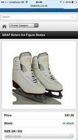 Size 6 figure skates like new