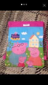 Children's P.E. Swim/Shoe Bag. £1.50 Each Frozen. Minions. Peppa Pig
