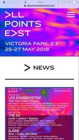 All Points East Fest - Friday 25th - 1 or 2 tix available