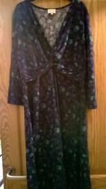 East Dress 3/4 sleeve Jersey Dress Size 14