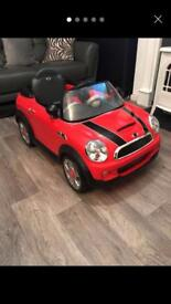 NOW SOLD Mini Cooper kids electric ride on car £65