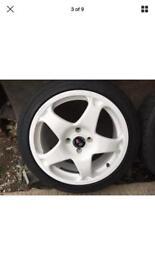"17""Revolution Motorsport Alloy Wheels x4 To Fit Ford 108 Stud Pattern"