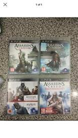 Assassins creed bundle of four PS3 games PlayStation
