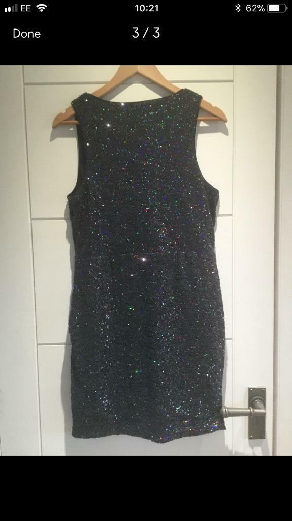 Oasis Black Sequin Dress