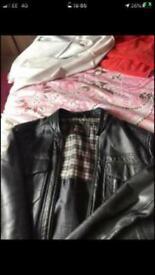 Medium Leather helium jacket