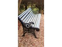 Wooden & Cast iron ended Bench