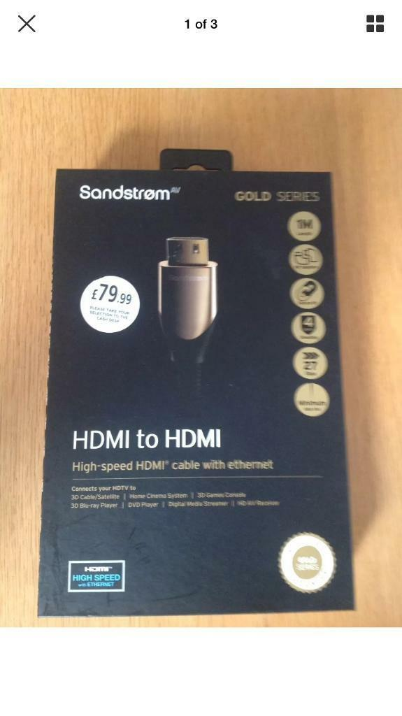 Sandstrom gold HDMI x2